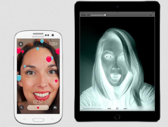Skype đã cho phép người dùng sử dụng hình ảnh trong khi trò chuyện qua video