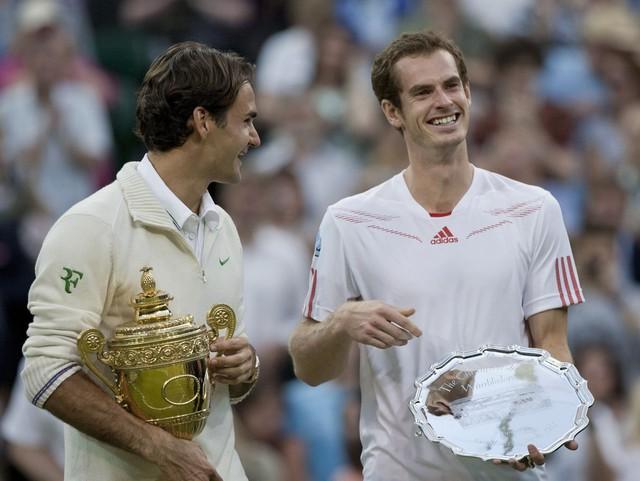 Federer và Murray là trong số những tay vợt được yêu thích nhất ở Wimbledon
