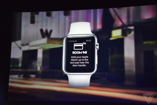 Người dùng cũng có thể sử dụng Apple Watch như một chiếc chìa khóa phòng khách sạn