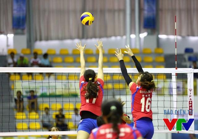 Với chiều cao vượt trội, CLB Liêu Ninh (Trung Quốc) giành nhiều điểm số quan trọng.