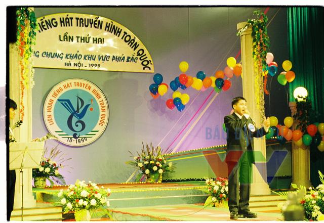 Ca sĩ Trọng Tấn trong cuộc thi Liên hoan tiếng hát truyền hình toàn quốc lần thứ hai