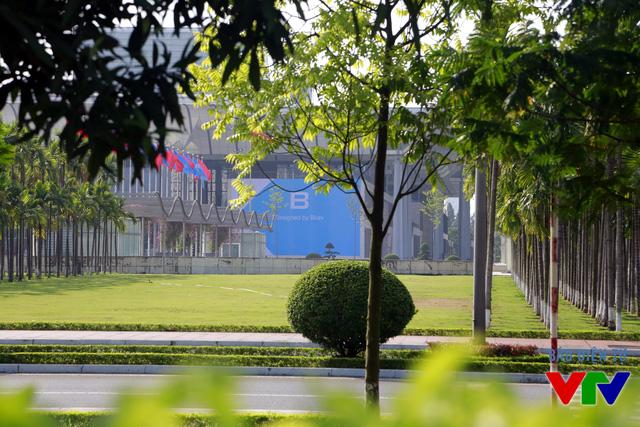 Một phần cửa vào khu vực diễn ra sự kiện ra mắt BPhone