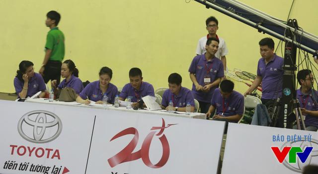 Các thành viên trong Ban Tổ chức cuộc thi Robocon Việt Nam 2015 tại khu vực phía Bắc