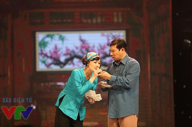 Diễn viên Vân Dung và Quang Thắng.