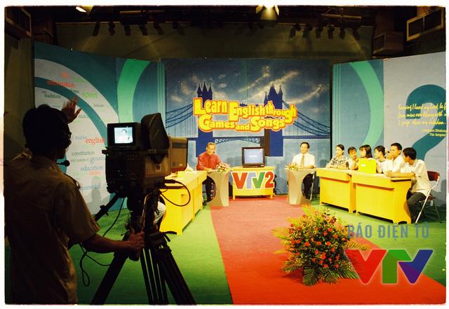 Trường quay một chương trình học tiếng Anh trên VTV2