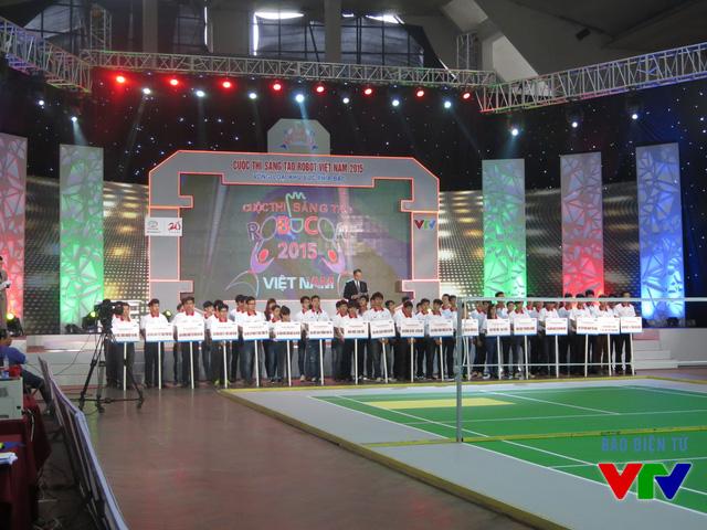 Các đội tuyển tham dự vòng loại Robocon Việt Nam 2015 khu vực phía Bắc