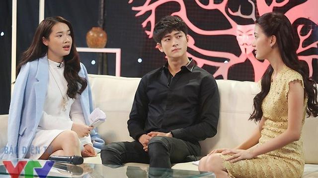 Diễn viên Nhã Phương, Kang Tae Oh và MC Linh Sunny tại buổi ghi hình chương trình Gặp gỡ những gương mặt diễn viên Truyền hình ấn tượng. (Ảnh: ĐL.Nhân Ái)