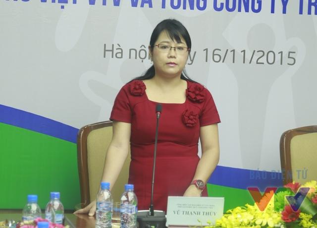 Bà Vũ Thanh Thủy - Tổng Biên tập Báo Điện tử VTV News (Đài THVN), Phó Giám đốc Quỹ Tấm lòng Việt