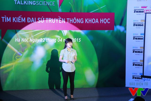 Nguyễn Thị Phương (Đại học Khoa học Tự nhiên) với chủ đề Bảo hiểm sinh học - Tế bào gốc từ dây rốn