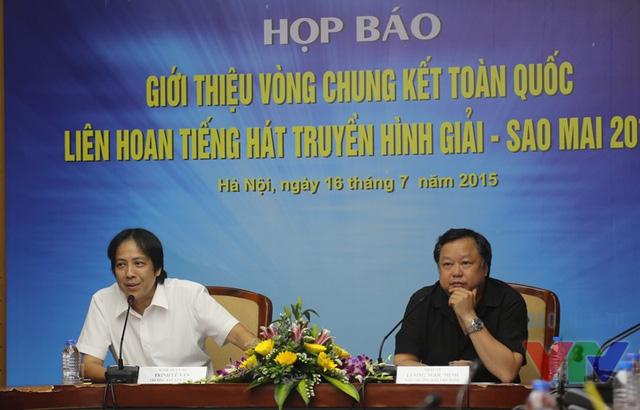 NSƯT Trịnh Lê Văn (trái) và Nhạc sĩ Lương Ngọc Minh (phải)