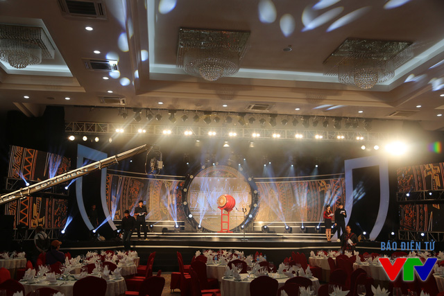 Sân khấu của Lễ khai mạc LHTHTQ lần thứ 35 đã chuẩn bị hoàn tất