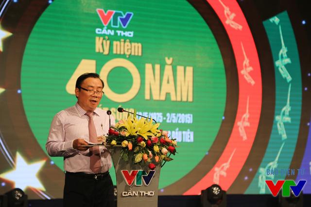 Nhà Báo Lâm Kiết Tường - Phó Tổng Giám đốc Đài Truyền hình Việt Nam phát biểu tại buổi lễ