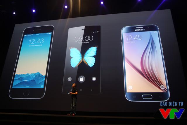 Bkav khá táo bạo khi so sánh thiết kế của BPhone với iPhone 6 Plus của Apple  và Galaxy S6 của Samsung