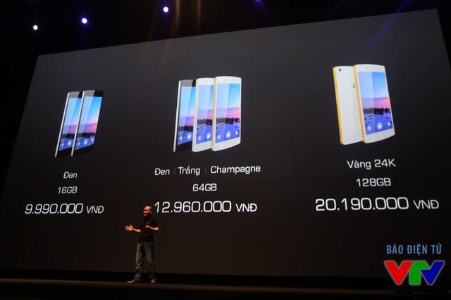 Mức giá của BPhone được công bố trong buổi lễ ra mắt