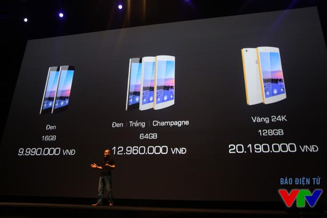 BPhone có 3 phiên bản với dung lượng bộ nhớ và màu sắc khác nhau