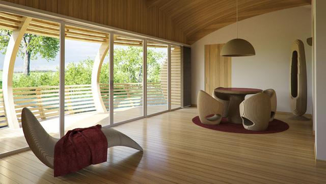 Ngôi nhà được chế tạo bằng vật liệu tái chế