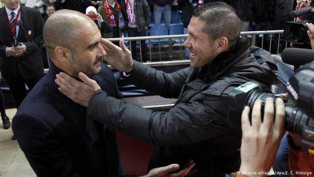 Pep Guardiola và Diego Simeone đang ở 2 hoàn cảnh trái ngược nhau (Ảnh: DPA)
