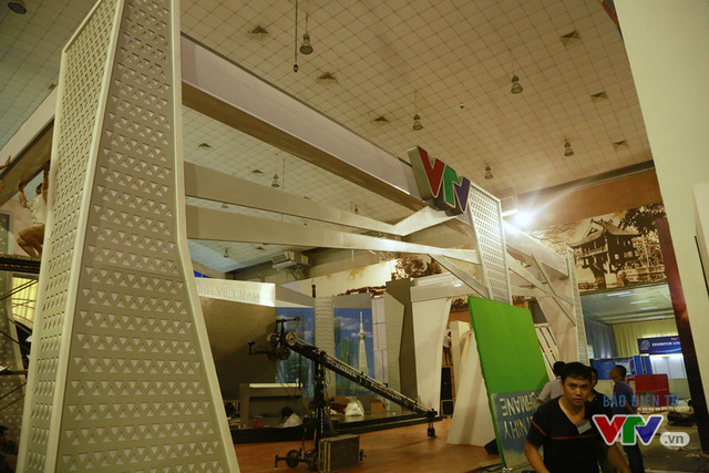 Gian hàng của VTV được đặt ở vị trí trung tâm của triển lãm.