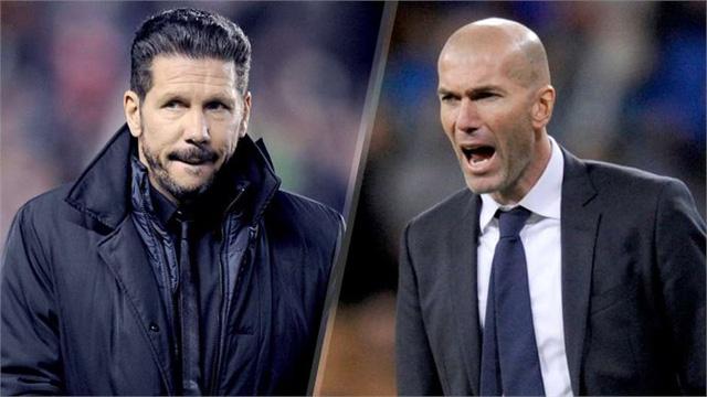 Cả Zidane và Simeone cũng góp phần làm nên nét hấp dẫn của derby Madrid lần này