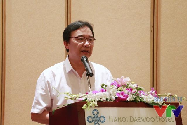 Ông Phạm Việt Tiến – Phó Tổng Giám đốc Đài Truyền hình Việt Nam phát biểu trong buổi họp báo.