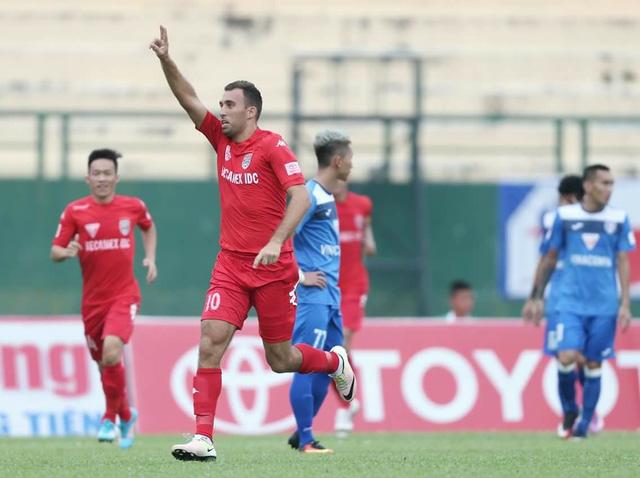 Cựu tiền đạo của FLC Thanh Hóa, Ivan Firer đã ghi bàn thắng duy nhất trong trận B. Bình Dương - Thanh Hoá cuối tuần qua. Ảnh: BD