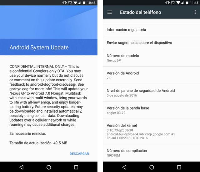 Thông báo của Google gửi tới người dùng Nexus 6P