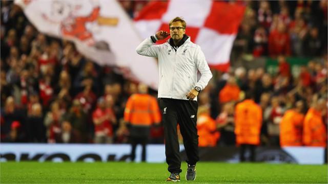 Đưa Liverpool vào chung kết Europa League, Klopp đi vào lịch sử đội bóng chủ sân Anfield. Ảnh: UEFA