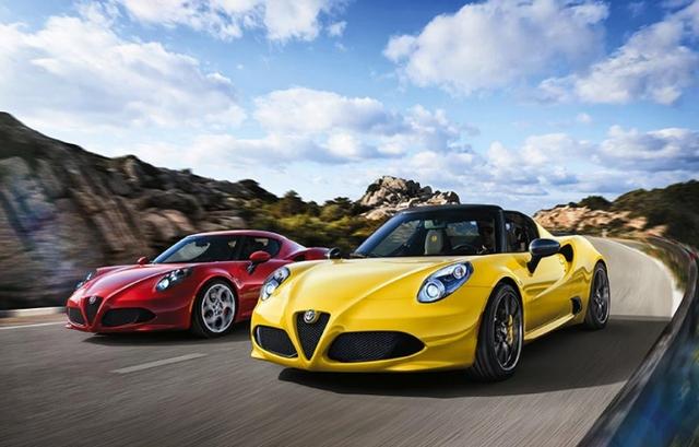 Mẫu xe thể thao Alfa Romeo 4C Spider do nước Ý sản xuất.