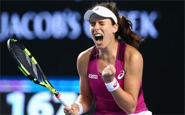 Konta là tay vợt nữ Vương Quốc Anh đầu tiên có mặt tại bán kết 1 giải Grand Slam