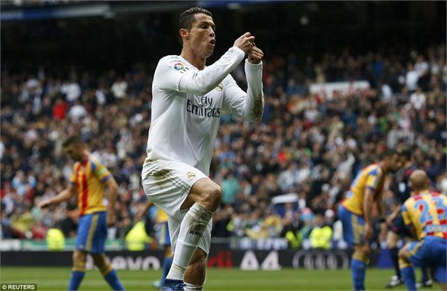 Ronaldo đã đạt cột mốc 200 bàn thắng tại Santiago Bernabeu