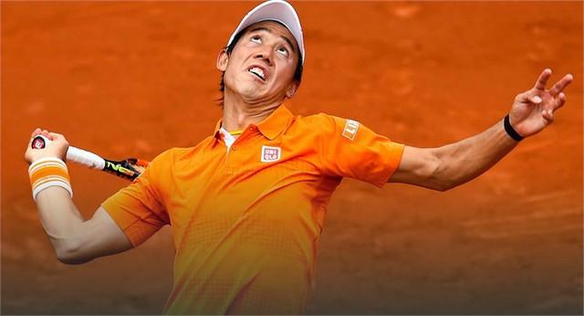 Nishikori vẫn đang vững vàng trên con đường bảo vệ chức vô địch (Ảnh: ATP)