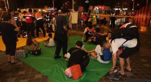 Quang cảnh hỗn loạn sau vụ nổ tàu ở ga Tùng Sơn (Ảnh: Iusbpreface)