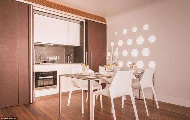 Phòng ăn với không gian thanh lịch.