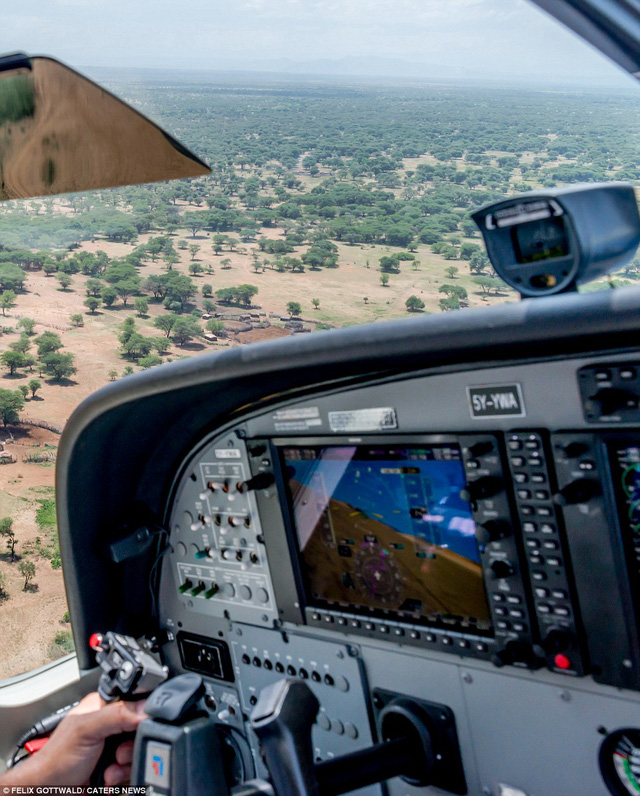 Hình ảnh ghi lại thung lũng Great Rift ở Kenya, châu Phi, nhìn từ trên cao