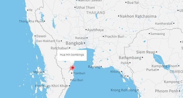 Khu vực nơi xảy ra vụ đánh bom là điểm thu hút các du khách trong nước và quốc tế. Hua Hin là một thị trấn du lịch cao cấp ở miền nam Bangkok. Đây cũng là nơi đặt cung điện mà Vua Bhumibol Adulyadej của Thái Lan thường ở.