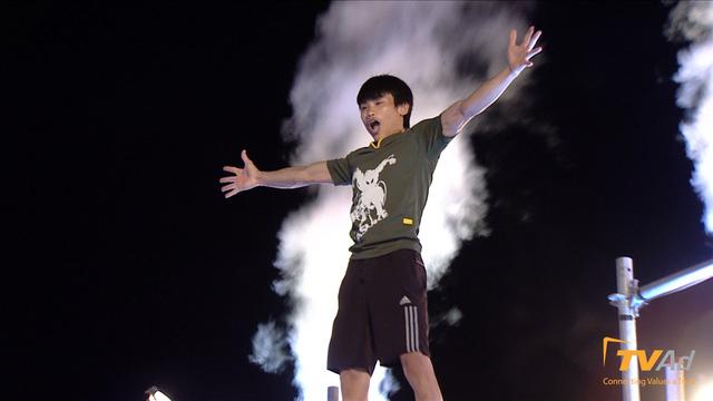 Tân binh Nguyễn Huy Hạnh về đích với thành tích 61 giây 54.