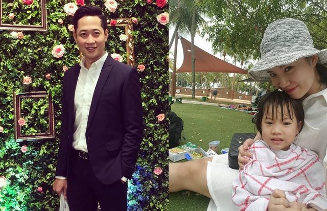 Cặp vợ chồng Danh - Phương của Hôn nhân trong ngõ hẹp: Mạnh Hưng bảnh bao đi dự sự kiện trong khi Quỳnh Hoa đăng ảnh hai mẹ con tại Singapore trong chuyến công tác mới đây.