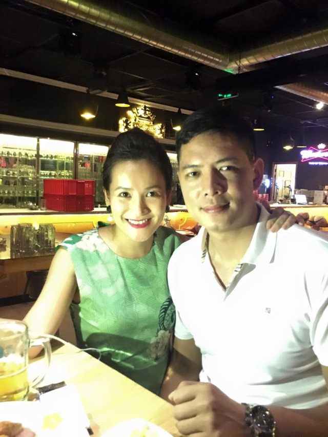 Bình Minh chia sẻ khoảnh khắc hạnh phúc bên vợ.