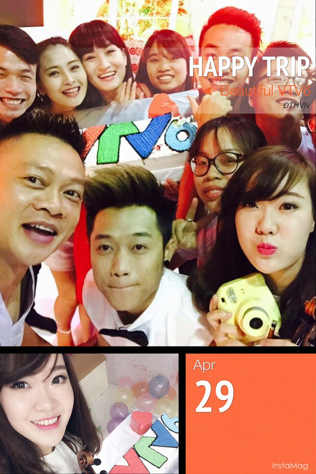 Trong khi đó, với các MC, BTV của Ban Thanh thiếu niên, ngày 29/4 là một dịp đặc biệt bởi đây là dịp đại gia đình VTV6 tổ chức sinh nhật 9 tuổi. Trên Facebook cá nhân, BTV Trần Quang Minh cũng chia sẻ hình ảnh chúc mừng sinh nhật VTV6. Bức ảnh có sự góp mặt của nhiều thành viên thuộc nhà hàng Bữa trưa vui vẻ.