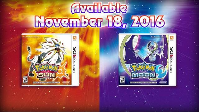 Pokémon Sun và Pokémon Moon sẽ phát hành ngày 18/11