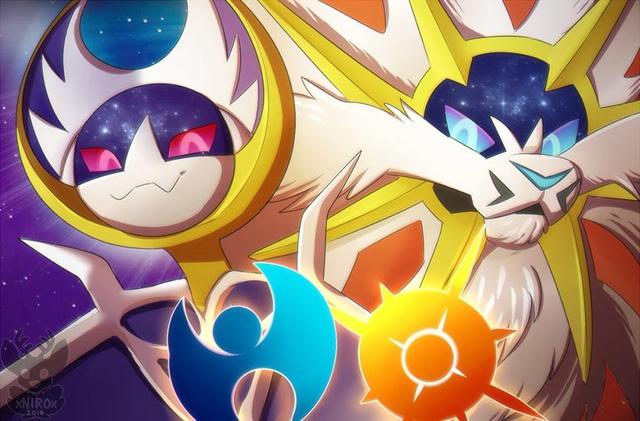 Hai Pokémon huyền thoại trong phiên bản Sun và Moon có hình dạng giống sư tử và dơi