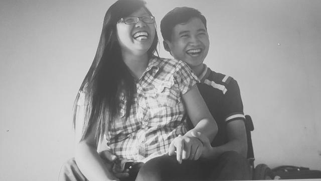 Nụ cười hạnh phúc của Lý và Hoàng Anh khi ở bên nhau (Ảnh: Fanpage chương trình)