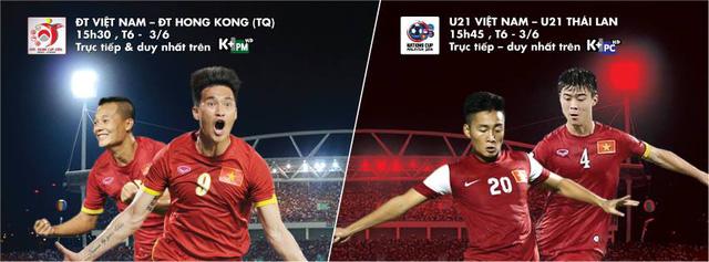 K+ đồng thời sở hữu bản quyền phát sóng hai giải đấu giao hữu có sự góp mặt của ĐT Việt Nam và U21 Việt Nam