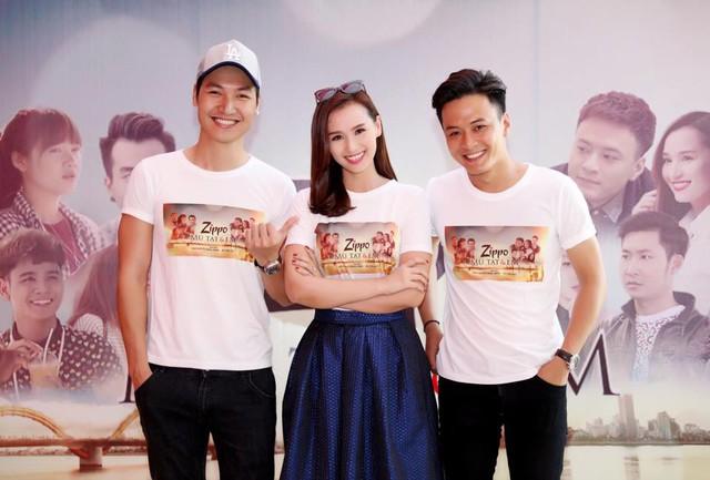 Ba diễn viên chính của phim: Mạnh Trường, Lã Thanh Huyền và Hồng Đăng.