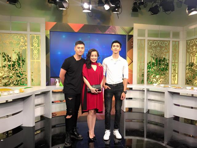 Kiên Hoàng, Minh Hương và Bình An tham gia chương trình Bữa trưa vui vẻ.