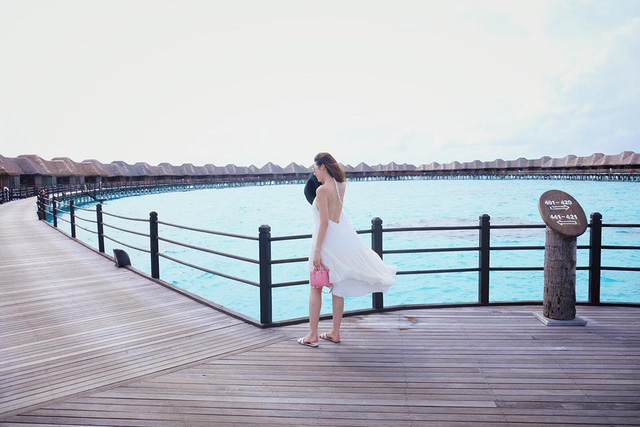 Nhân dịp sinh nhật tuổi 23, Tú Anh đã có chuyến du lịch đến quần đảo Maldives – nơi được mệnh danh là thiên đường hạ giới
