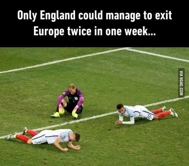 Chỉ có nước Anh mới có thể ra khỏi châu Âu hai lần trong vòng 1 tuần
