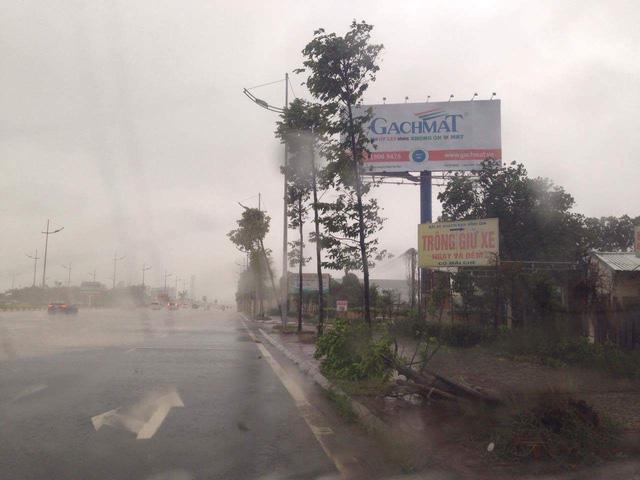 Mưa trắng trời trên đường ra sân bay Nội Bài
