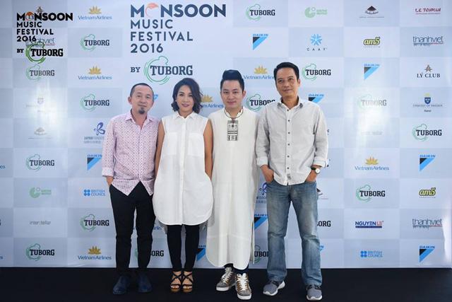 Nhạc sĩ Quốc Trung, ca sĩ Mỹ Linh, Tùng Dương và NS Anh Quân. Mỹ Linh và Tùng Dương là hai trong những nghệ sĩ Việt sẽ tham gia Monsoon Festival năm nay.