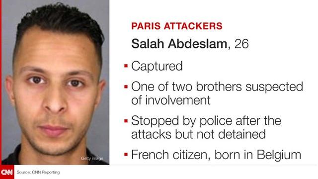 Hình ảnh của nghi phạm Salah Abdeslam (Ảnh: CNN)
